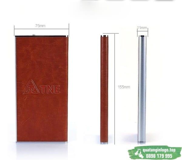 Pin Sạc Dự Phòng vỏ Da in logo làm quà tặng khách hàng quảng cáo thương hiệu Doanh nghiêp 3
