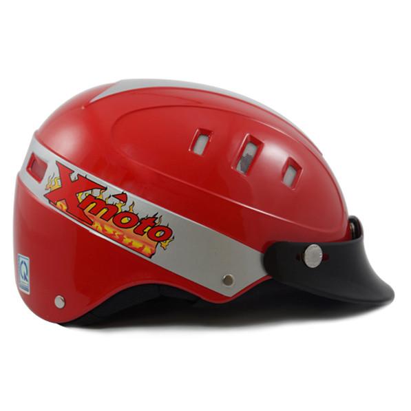 Nón Bảo Hiểm 8 lỗ in logo ATA HELMEX cửa hàng moto làm quà tặng khuyến mãi cho khách hàng