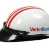 Nón Bảo Hiểm Haly in logo ngân hàng VietinBank làm quà tặng cho khách hàng nhằm quảng bá thương hiệu ngân hàng