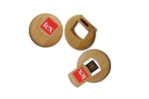 USB Go tron xoay in logo UGV 20 USB vo Go khac logo usb qua tang go in logo lam qua tang khach hang doanh nghiep