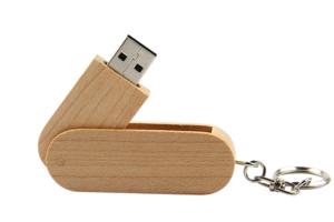 USB Go xoay khac logo UGV 07 USB vo Go xoay usb qua tang go in logo lam qua tang khach hang quang cao cong ty
