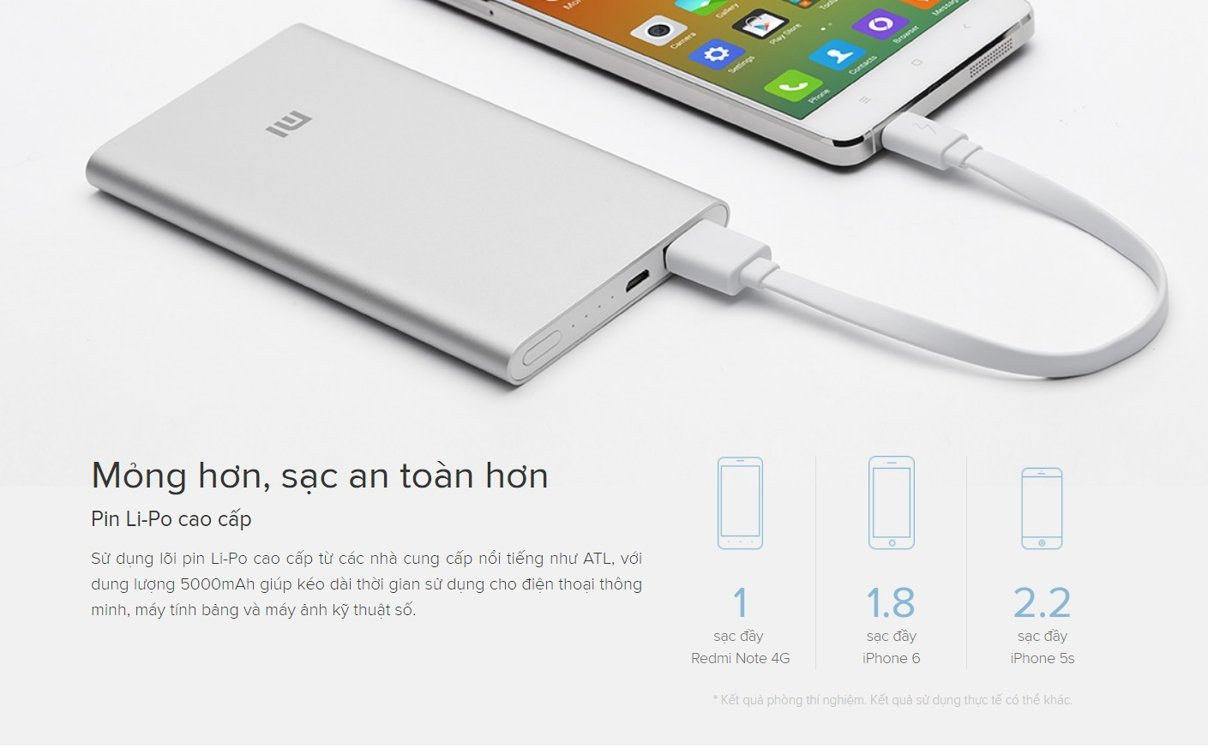 MI2 Xiaomi 5000mAh GLOBAL BAC SILVER VXN4236GL Pin sac du phong in logo qua tang khach hang 2
