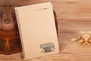 SLT 11 - Sổ Tay Bìa cứng giấy Kraft đóng lò xo in logo qua tang khuyen mai khach hang quang cao doanh nghiep (1)