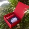 GST 13 – Giftset – Bộ Quà Tặng 2in1 (Bình Giữ Nhiệt + Ly Sứ) in logo CTY ĐÒI NỢ SONG LONG làm quà tặng khách hàng đã sự dụng dịch vụ