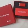 GST 14 – Giftset – Bộ Quà Tặng 2 trong 1 (Sạc dự phòng + USB Da) in logo Bảo Việt Sài Gòn làm quà tặng tri ân khách hàng