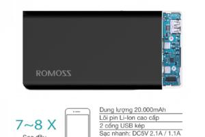 Pin Sac Du Phong ROMOSS SOLIT 20 20000MAH (ĐEN) (1)
