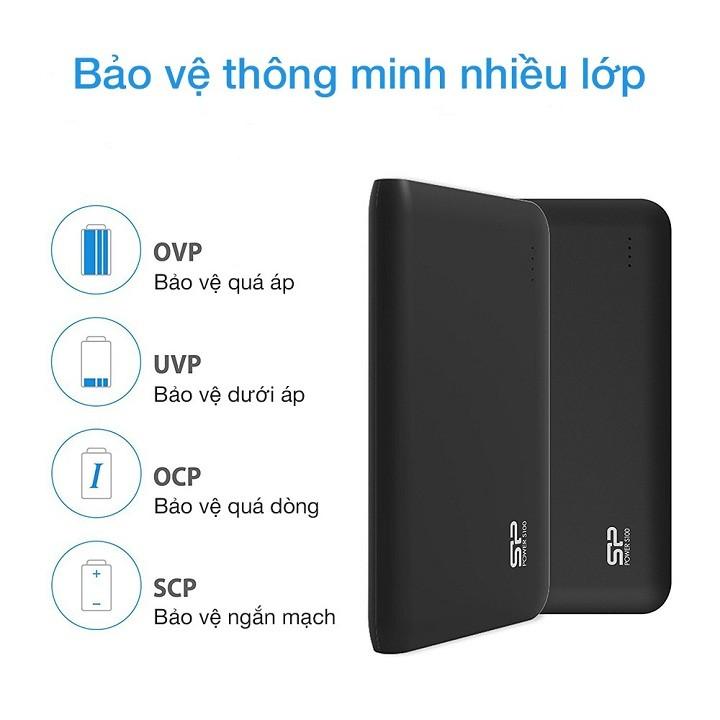 SDPS100 - Pin Sac Du Phong Silicon Power S100 10.000mAh in logo lam qua tang (3)