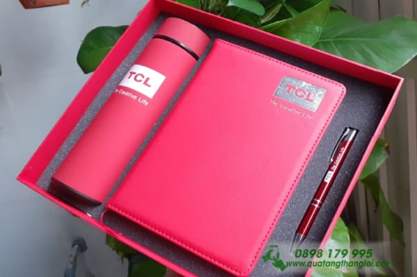 GIFTSET bo qua tang in khac logo doanh nghiep TCL lam qua tang khach hang(So+BGN+But Bi)