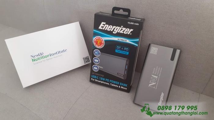 UE10047GY_Pin Energizer 10000mAh(Có Sạc nhanh) khắc logo theo yêu cầu