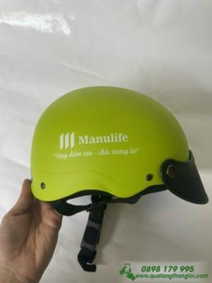 Nón Bảo Hiểm in logo MANULIFE làm quà tặng khách hàng