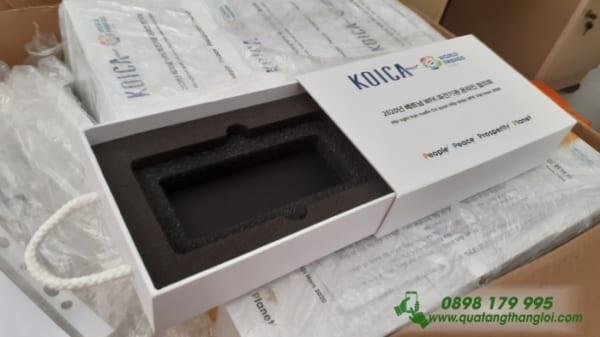 Hộp Kéo Đựng quà Giấy C in logo KOICA